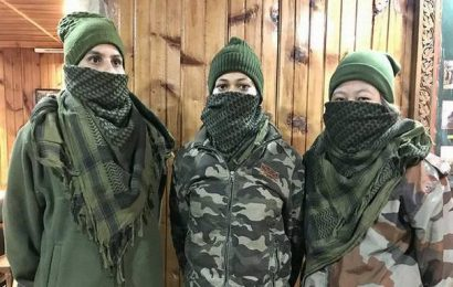 Women students in Mizoram being trained for MNS exam by Assam Rifles