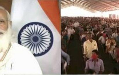 PM Modi inaugurates 'Maitri Setu' between Tripura and Bangladesh