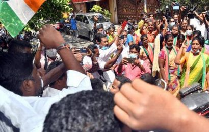 Puducherry Assembly elections   Tension in front of PCC office