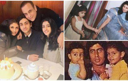 Amitabh Bachchan, Navya Naveli make Shweta Bachchan's birthday extra special, Abhishek says 'love you'. See pics