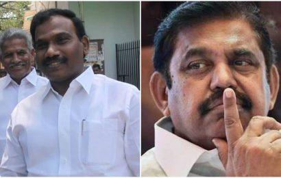 DMK leader A Raja apologises for remark against Tamil Nadu CM E Palaniswami