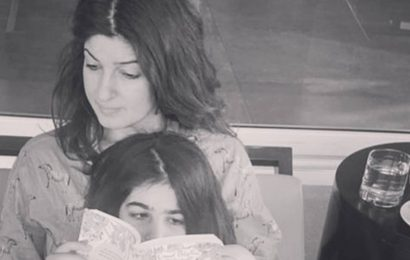 Twinkle Khanna requests schools to 'take kids back' as daughter Nitara does 'gymnastics' on her bed, watch video