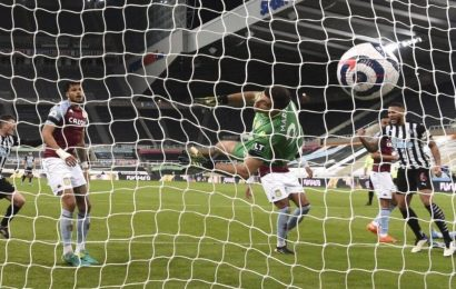 Newcastle salvage 1-1 draw with Aston Villa in EPL