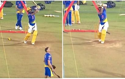 Watch: Cheteshwar Pujara smashes sixes in CSK's nets with new batting stance