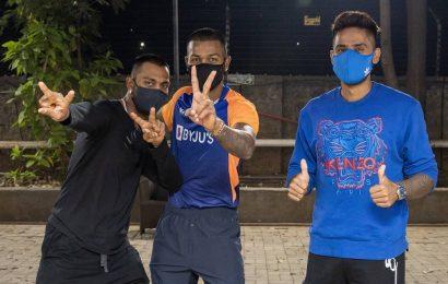 IPL 2021: Watch Hardik, Krunal, Suryakumar join MI squad in Mumbai