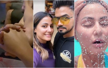 Hina Khan holidays with boyfriend Rocky Jaiswal in Maldives. See their love-soaked photos and videos