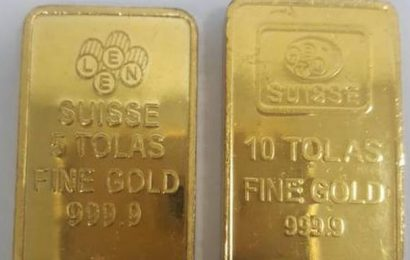 Two passengers held for smuggling gold