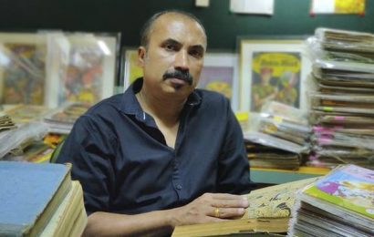 This comic collector has one of the largest collections of vintage India-published comic books