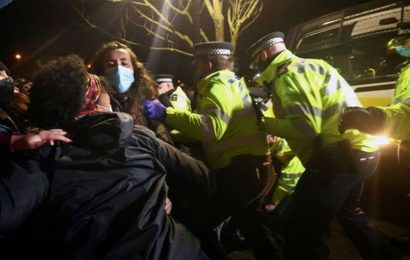 UK PM Boris Johnson 'deeply concerned' at footage of police breaking up vigil