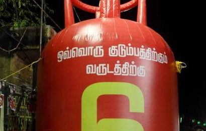 Cylinder campaign by rival parties catches fire