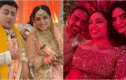 Inside JP Dutta's daughter Nidhi Dutta, Binoy Gandhi's dreamy Jaipur wedding: Raveena Tandon, Arjun Rampal attend