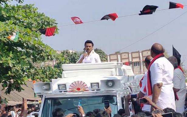 Tamil Nadu Assembly Elections   CM mortgaged T.N.'s rights over Cauvery, says Stalin