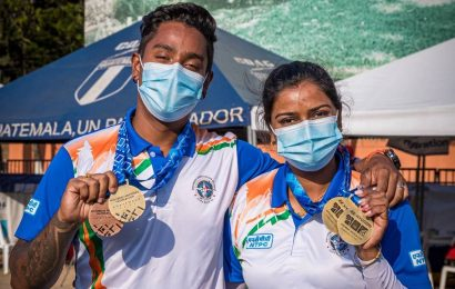 Archery couple Deepika Kumari-Atanu Das shoots triple gold as India finish with four medals at World Cup