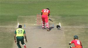 Debutant Arshad Iqbal breaks batsman's helmet with bouncer: Watch