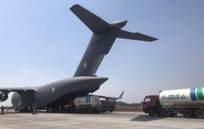 IAF mission amid oxygen crisis: Four empty containers flown from Pune Air Base to Jamnagar