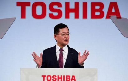 Japan's Toshiba president steps down amid acquisition talks