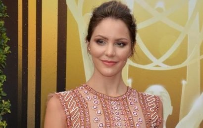 Katharine McPhee Snuggles Son Rennie, 2 Mos., Wearing Hat That Reads 'I Still Live With My Parents'