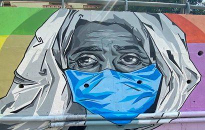Mask up Hyderabad: The artists behind the Shamshabad wall art