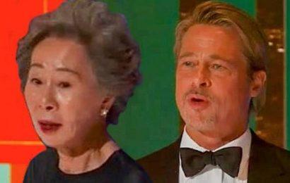 Minari grandmother Youn Yuh-jung flirts with Brad Pitt after Oscar win