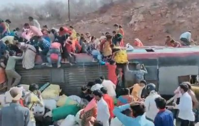 Overcrowded bus ferrying migrant workers from Delhi to Tikamgarh in MP overturns, 3 dead