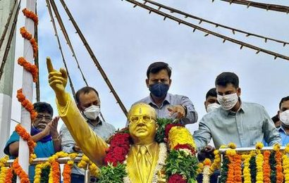 Simple Ambedkar birth fete in two districts