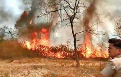Forest fire on Jnana Bharathi campus