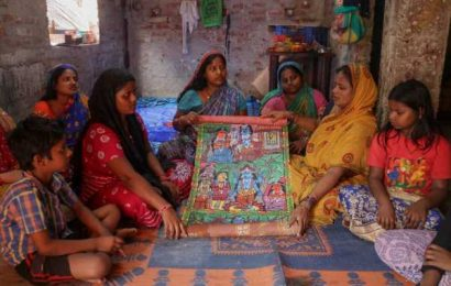 In West Midnapore 'Chitrakar village', between the brush strokes a cry to bring poriborton to their lives