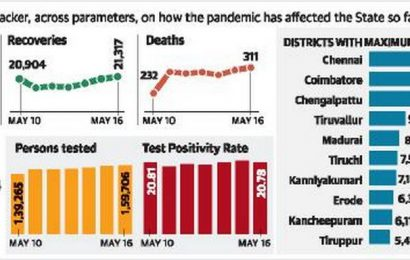 33,181 new cases and 311 fatalities in T.N.
