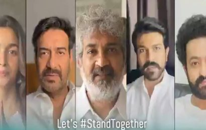 Alia Bhatt, Ajay Devgn, Jr NTR, Ram Charan appeal to Indians to fight the spread of Covid-19, watch RRR team's video