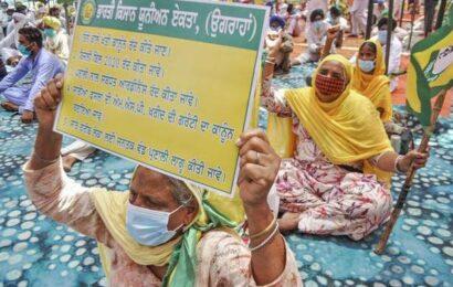 BKU-Ekta Ugrahan begins 3-day protest against Punjab government's handling of COVID-19