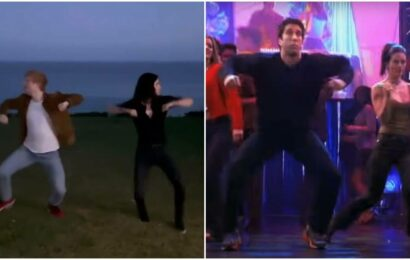 Courteney Cox and Ed Sheeran recreate Ross and Monica's 'Routine' from Friends, fulfil fan wishes
