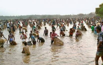 Fishing festival held in two places in defiance of ban