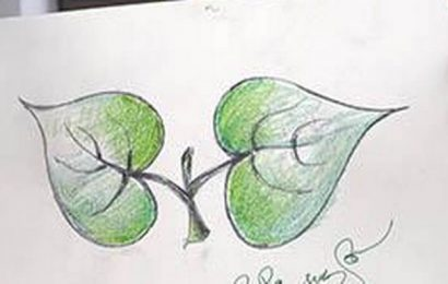 Man who designed 'two leaves' dies