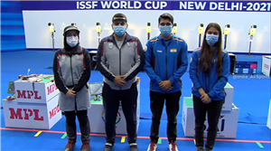 Saurabh Chaudhary leads way in stellar show by India's pistol and rifle mixed teams