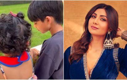 Shilpa Shetty drops video of her children Samisha and Viaan as they celebrate Brother's Day. Watch
