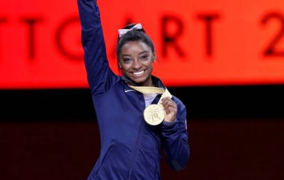 Simone Biles makes history in return to competition at US Classic