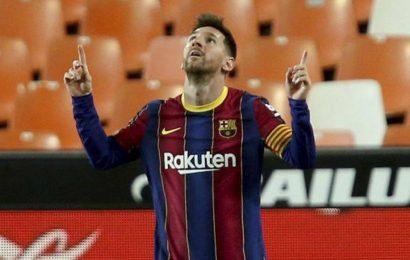 Spanish La Liga: Messi strikes twice in 2nd half to keep Barcelona near top