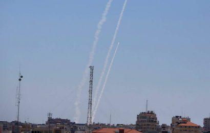 Strike from Gaza kills 2 as Israel topples 6-storey building