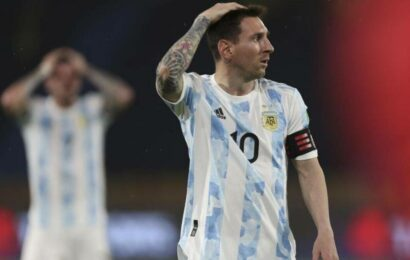 Argentina allow last-minute draw at Colombia in WC qualifiers