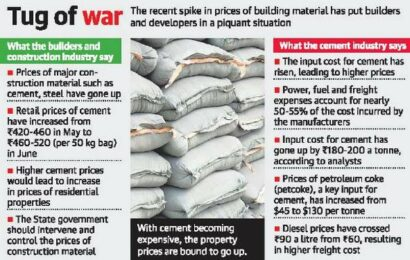 Builders, cement makers spar over price hike
