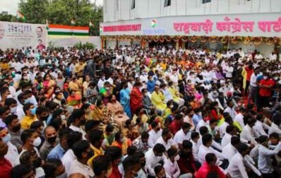 Case against NCP leaders after massive crowd gathers at Pune NCP office inauguration attended by Ajit Pawar