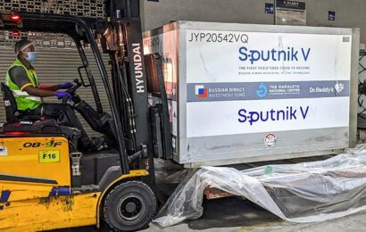 Consignment of 3 million doses of Sputnik V vaccine from Russia land in Hyderabad