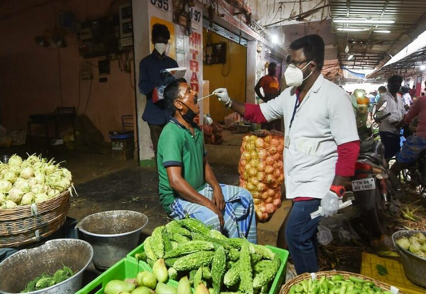 Covid-19: Chennai Corporation intensifies vaccination drive in Koyambedu wholesale market