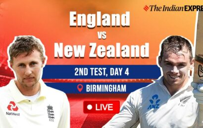 England New Zealand 2nd Test Day 4 Live Cricket Score: NZ in sight of historic win