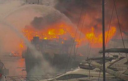 Fire sets at least 16 boats ablaze in Hong Kong