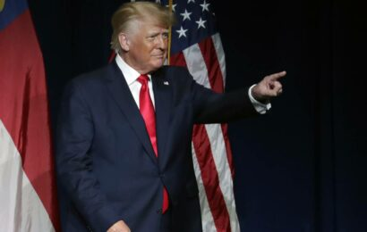 Former president Donald Trump returns as a diminished TV draw
