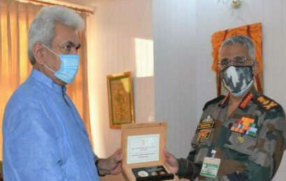 Gen. Naravane, J&K L-G Sinha discuss security situation in Union Territory