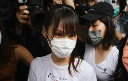 Hong Kong democracy activist Agnes Chow released from jail