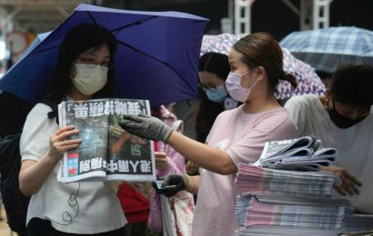 Hong Kong's last pro-democracy paper publishes final edition
