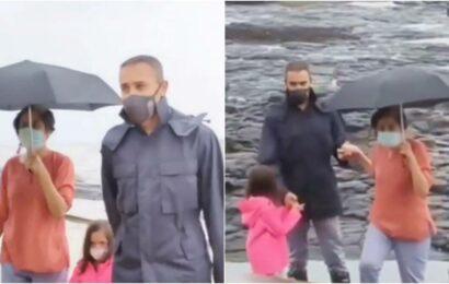 Imran Khan makes a rare appearance at a Mumbai beach with daughter Imara, watch video